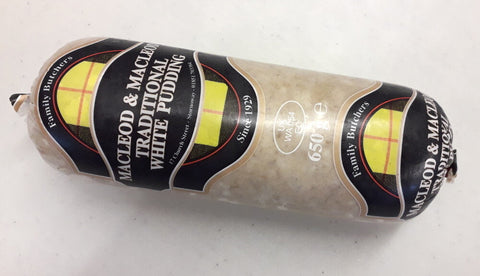 Macleod & Macleod Original Stornoway White Pudding - 650grs