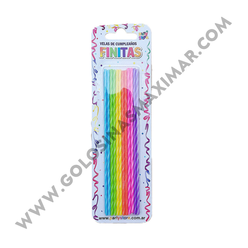 Velas Largas Finitas Multicolor