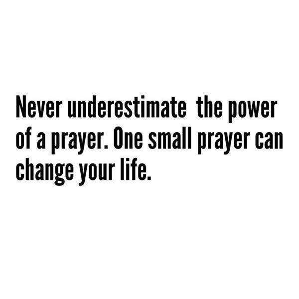 One small prayer 🙏