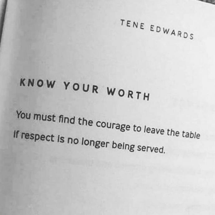 Know Your Worth ⚡️