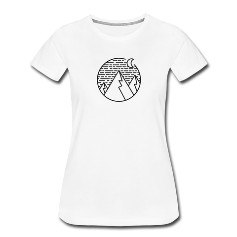 Women's Premium T-Shirt White - 1in400trillion