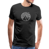 Men's Premium T-Shirt Black - 1in400trillion