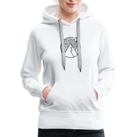 Women's Premium Hoodie White - 1in400trillion