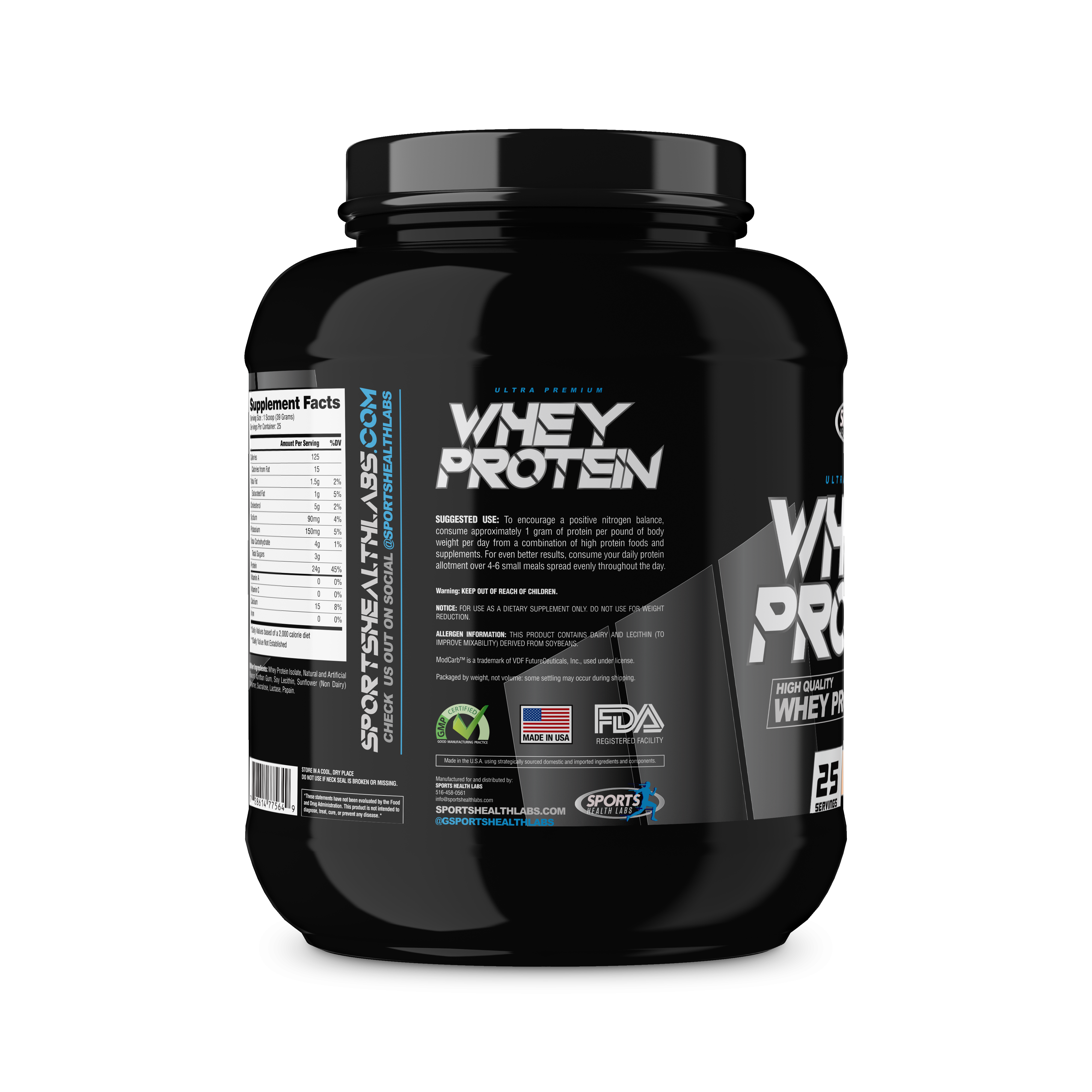 Whey Protein Supplement - Sports Health Labs