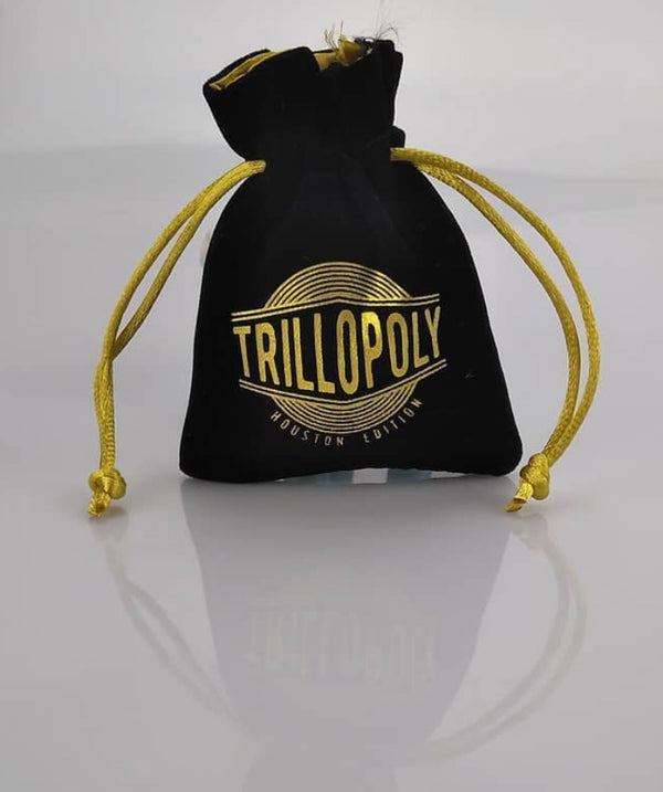 Trillopoly Satin Embroidered Game Pawn Sacks