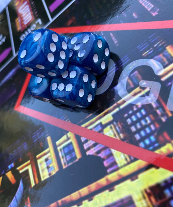 SCREWED BLUE Trillopoly Dice