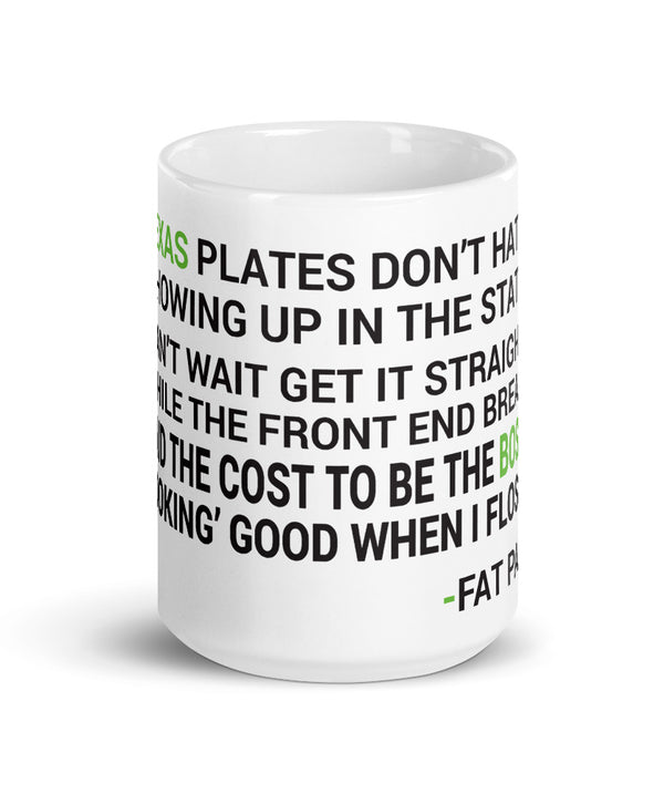 H Town Fat Pat Lyrics Mug