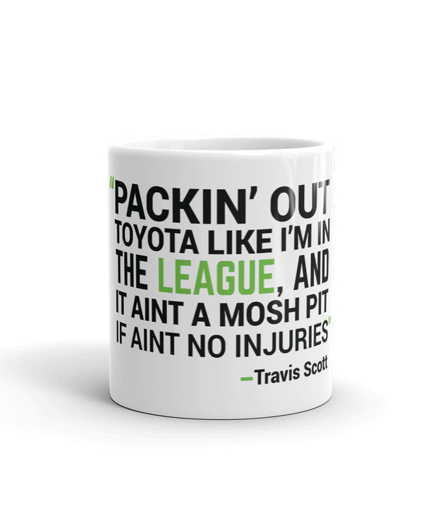 Houston Travis Scott Lyrics Mug