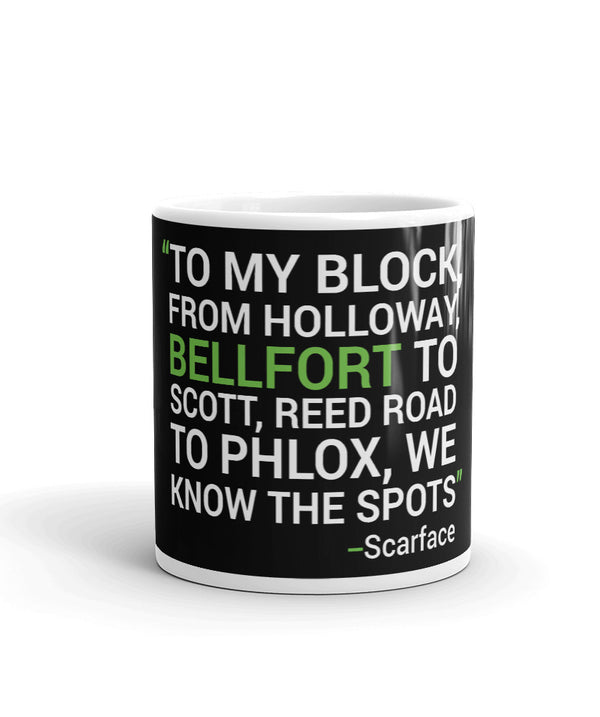 HTown Scarface Lyrics Mug