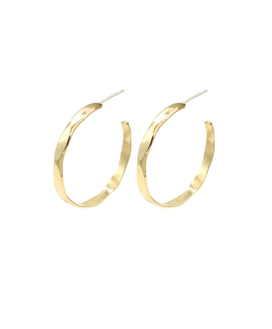Angled Hammered Hoops