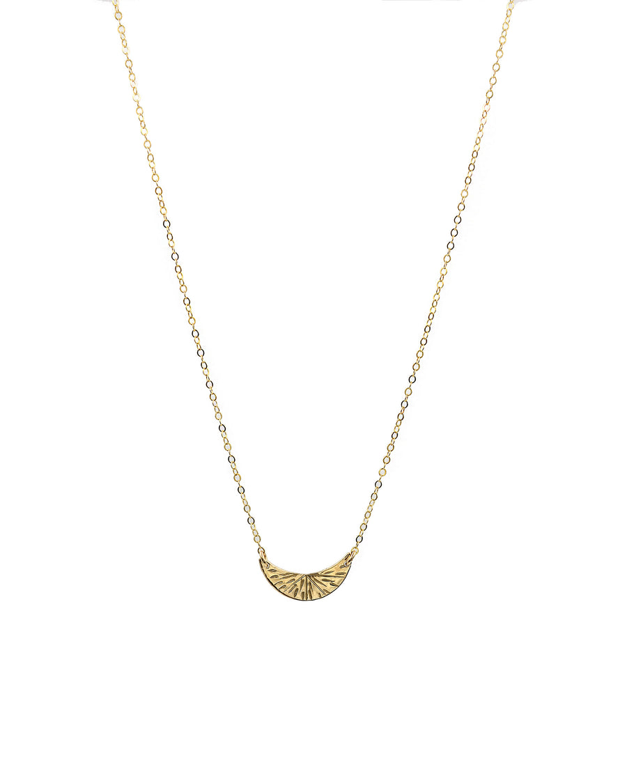 Crescent Burst Necklace
