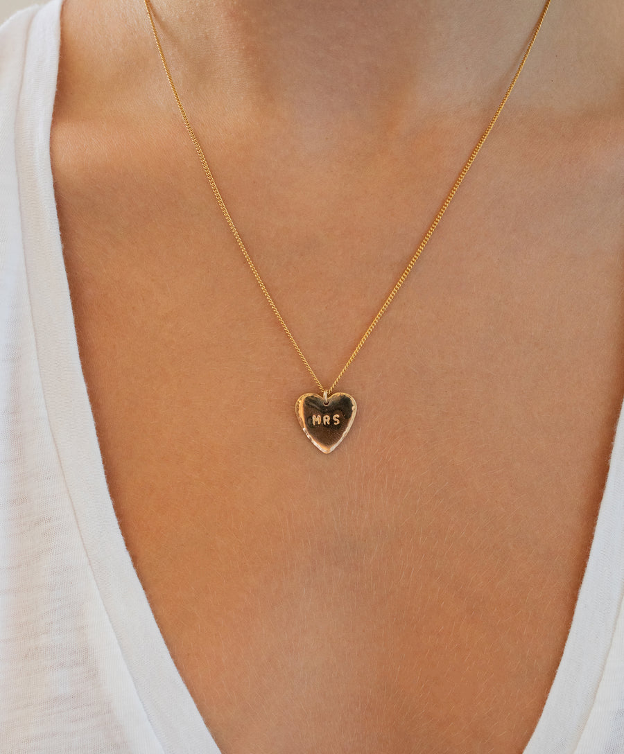 Mrs Heart Necklace