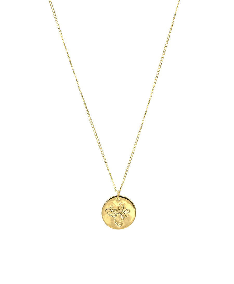 Prickly Pear Coin Necklace
