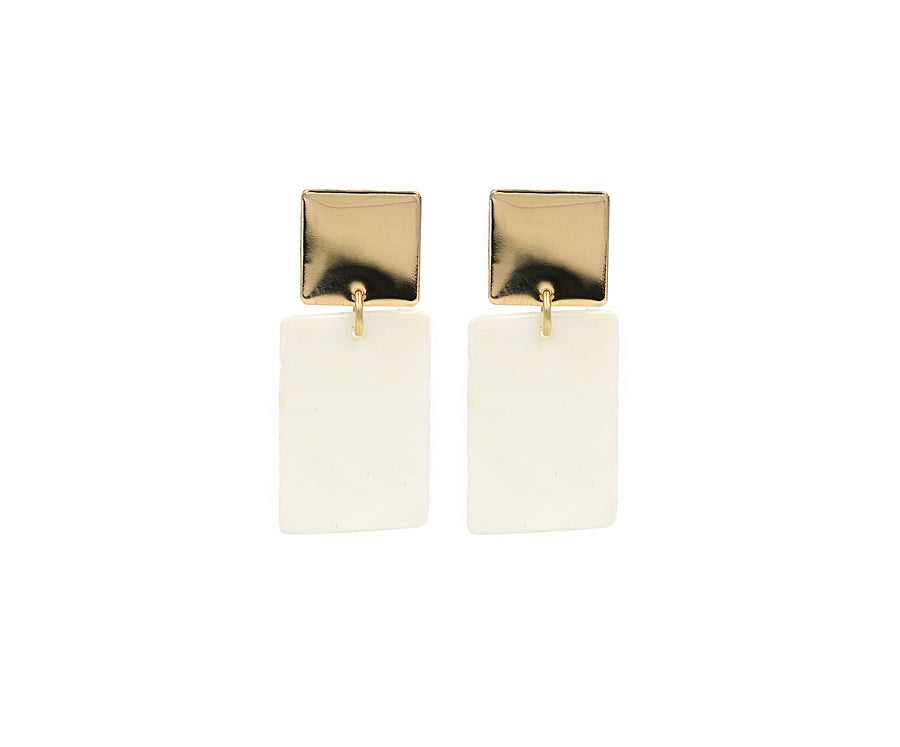 Square and Shell Earring Sample