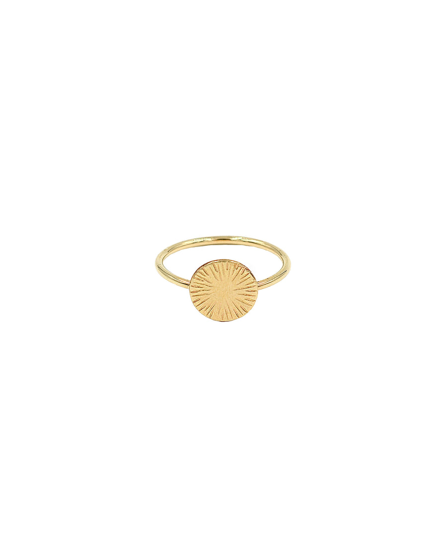 Sunburst Coin Ring