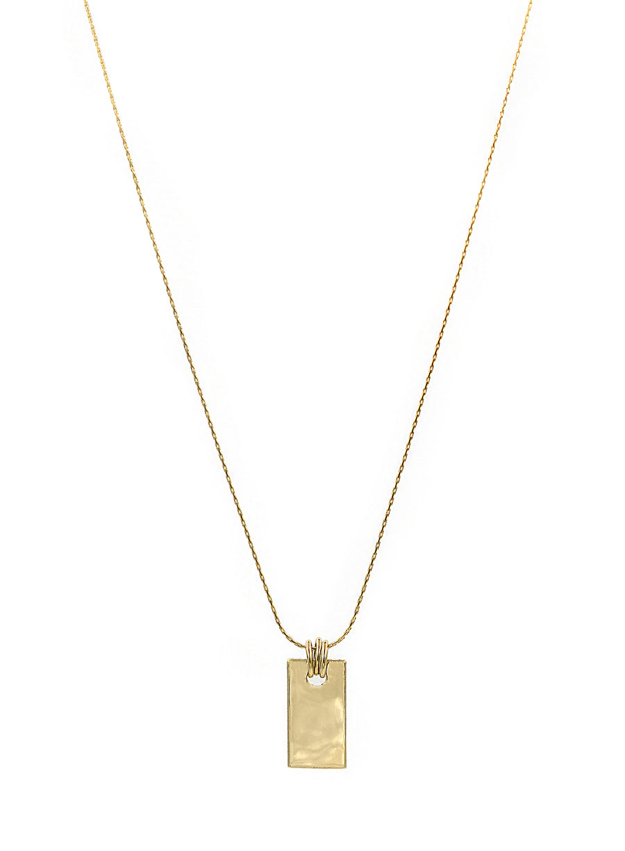 Three Ring Rectangle Necklace