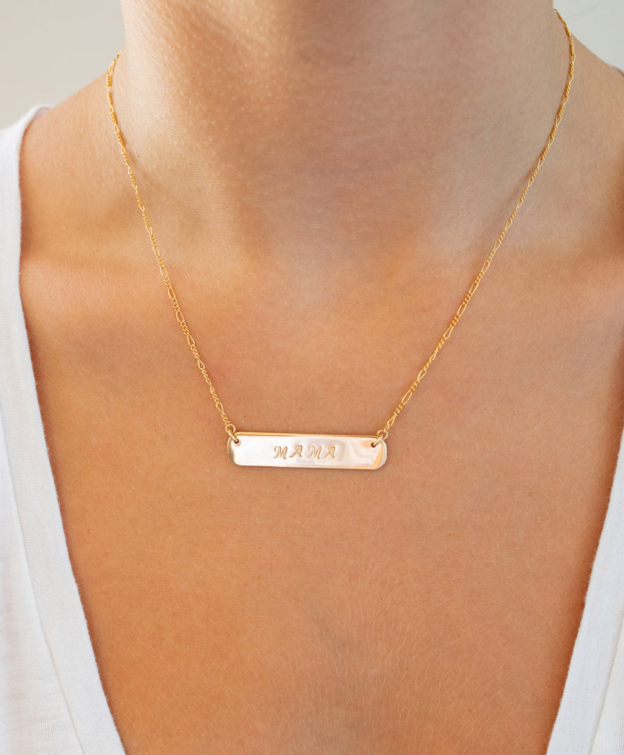 Say It Bar Necklace