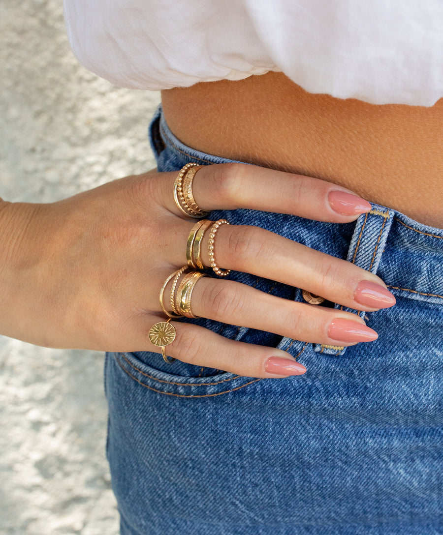 Bold Orb Stack Ring