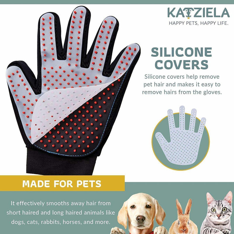Katziela Silicone Pet Grooming Glove