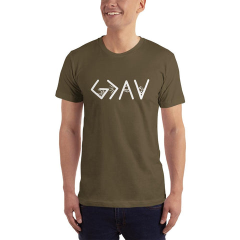 God is greater than the highs and lows-T-Shirt colour Army