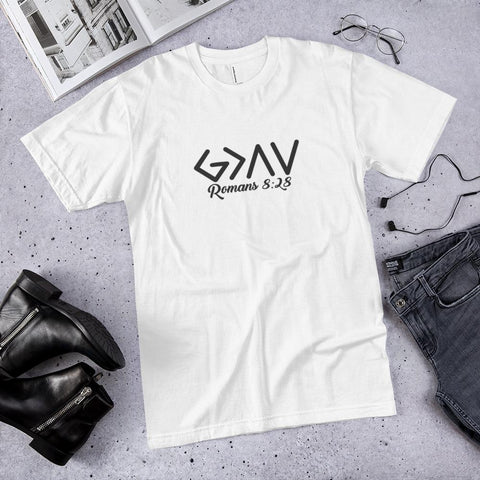 God is Greater than the Highs and Lows T-Shirt white