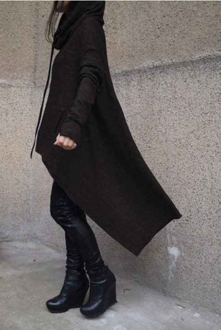 Long embroidered cloak hooded sweater ┼ God