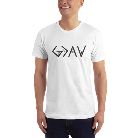 God is greater than the highs and lows-T Shirt White-men