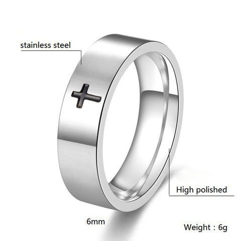Rings with cross Jesus┼ Christian jewelry