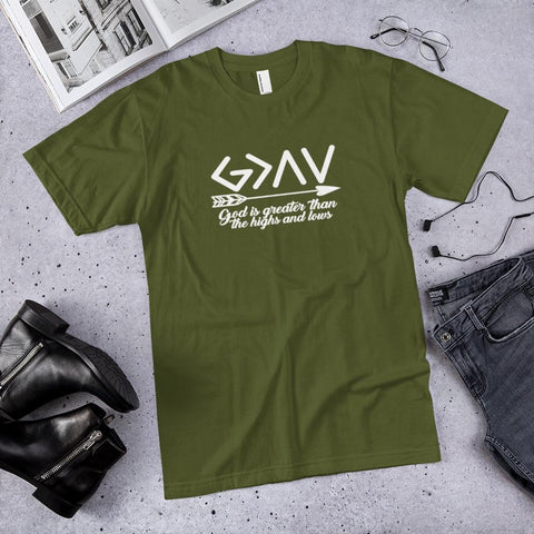 God is Greater than the Highs and Lows-colour Olive