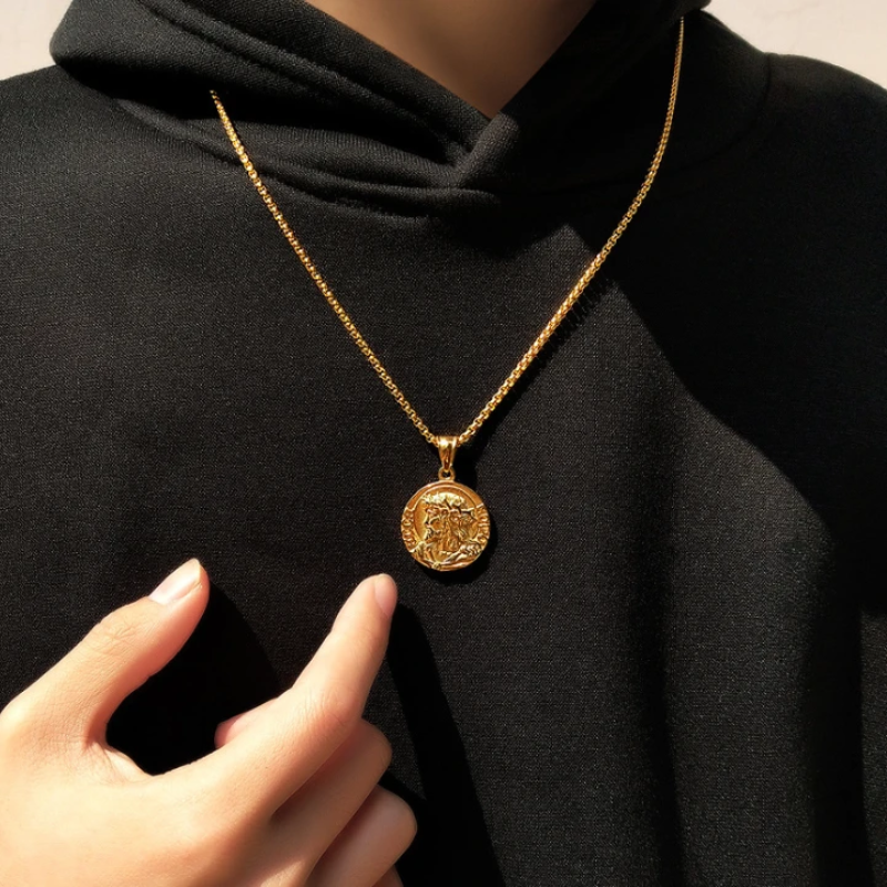 Jesus pendant-gold-Christian jewelry