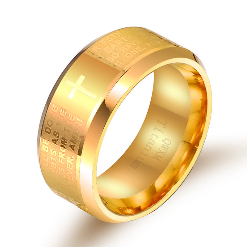 gold Pray our Father- Ring ┼ Christian jewelry