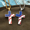 gold and Silver Pendant Necklace American Flag Patriotic