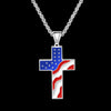 Pendant Necklace American Flag Patriotic