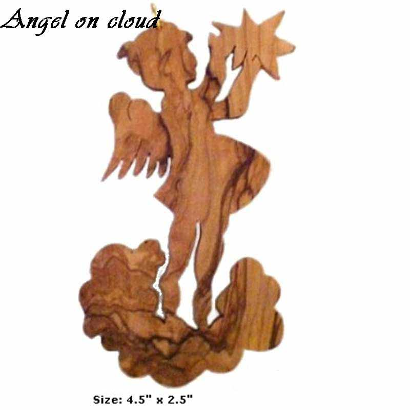 Angel-on-cloud-Angel-with-stars-Flight-to-Egypt- Large-Christmas-Ornaments-for-tree