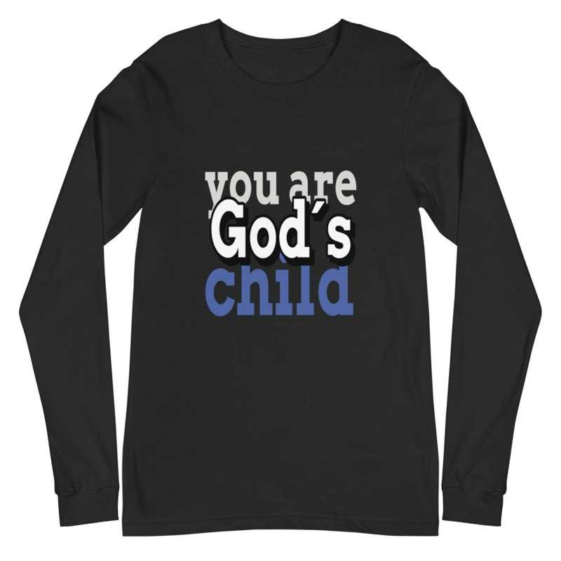 Black Long sleeve shirts You are God´s child
