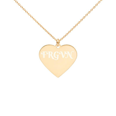 FRGVN-Engraved Silver Heart Necklace-Engravable jewellery