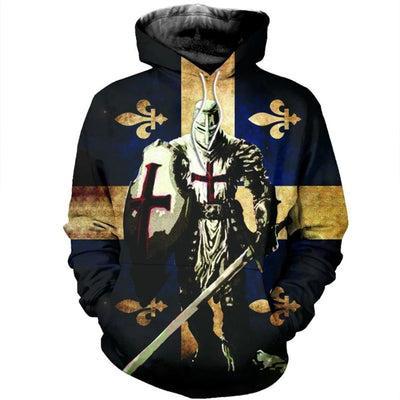Knights Templar cross 3d hoodies