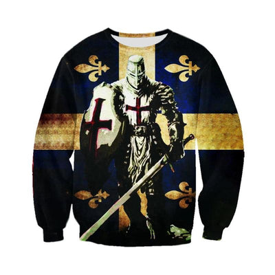 Knights Templar cross 3d/Sweatshirt