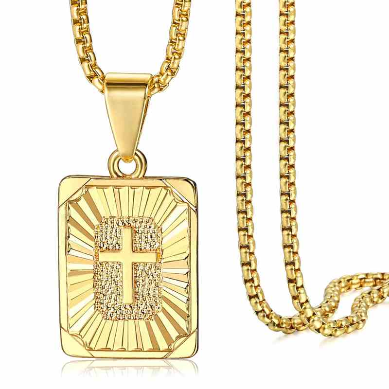 Jesus Christ Crucifix Cross Pendant ┼ Necklace Gold