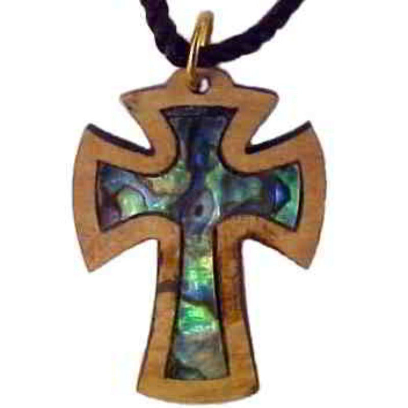 Mother of Pearl Necklaces-Olive Wood-Beautiful Cross