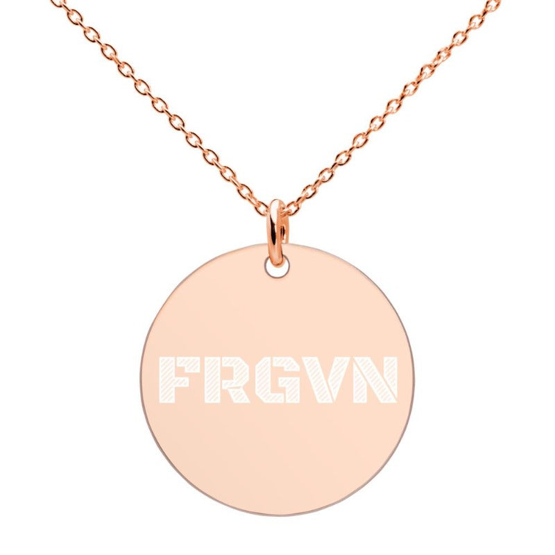 FRGVN-Engraved Silver Necklace-18K-ROSE-GOLD