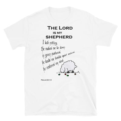 white T-Shirt psalm 23┼ the Lord is my shepherd