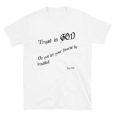 white T-shirt Trust in God-Chistian T-shirt