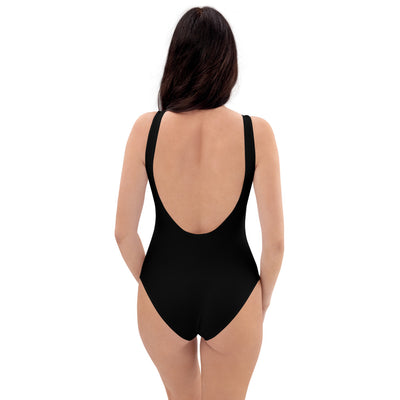 woman from behind with black One-Piece Swimsuit Christ the Sun