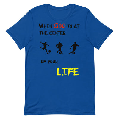 blue  T-Shirts Soccer-christian apparel,christian mens t shirts