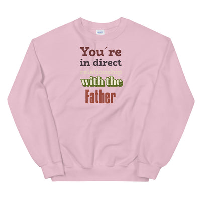 Christian pink Sweatshirt With the father-Religious