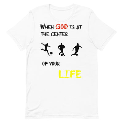 white  T-Shirts Soccer-christian apparel,christian mens t shirts
