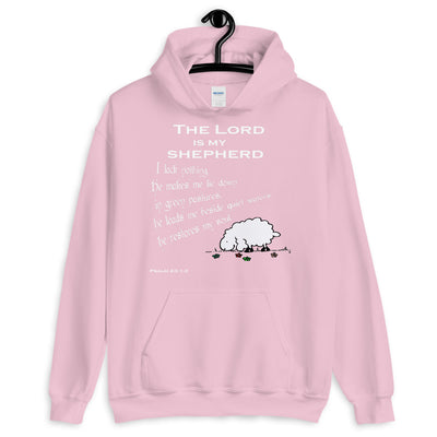 pink hoodie The Lord is my shepherd