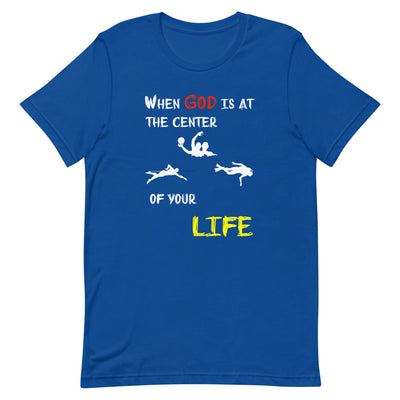 blue Christian T Shirts Swimmer