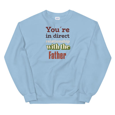 Christian blue Sweatshirt With the father-Religious